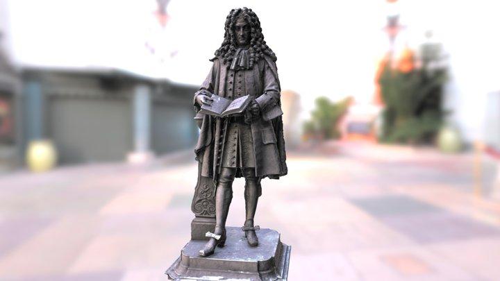 Leibniz Denkmal Leipzig 3D 3D Model