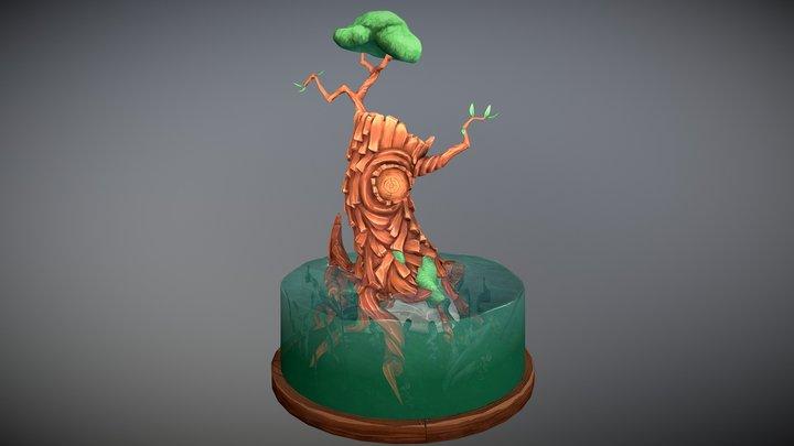 Stylized tree diorama 3D Model