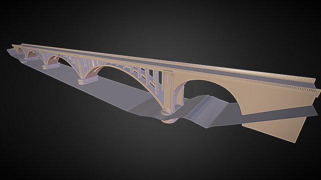 Wolf Creek Bridge - Cocke County, TN 3D Model