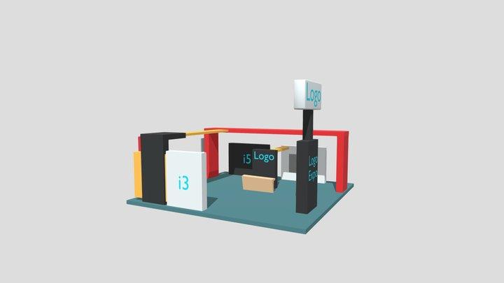 Modelo Stand Corporativo (3) Expo Virtual CDI 3D Model