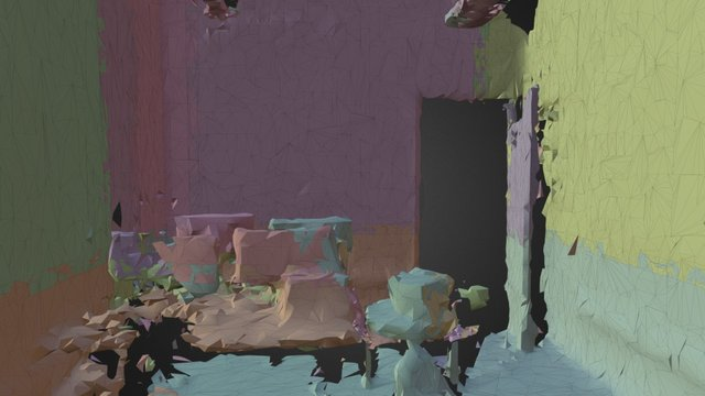 Hololens Spatial Mapping Mesh 3D Model