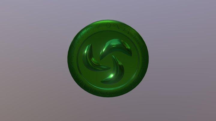 Legend of Zelda-OoT: Forest Medallion 3D Model