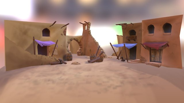 Battlescene 3D Model