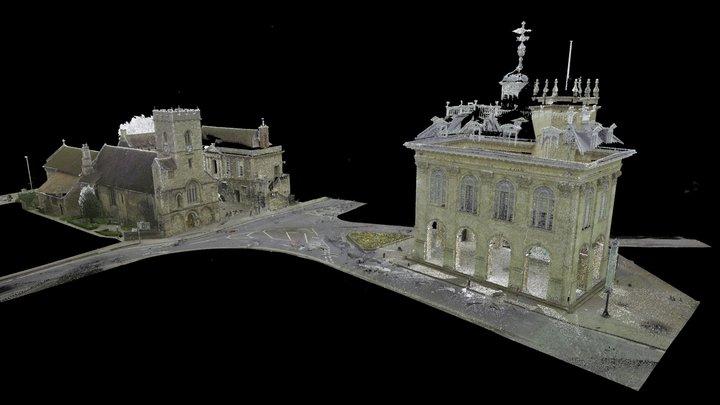 Abingdon Town Square - 3D Point Cloud (E,C) 3D Model