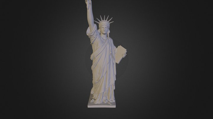 Statue Of Liberty Bronze Model 3D Model