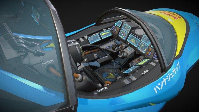 Formula G - FENRIR Viper cockpit 3D Model
