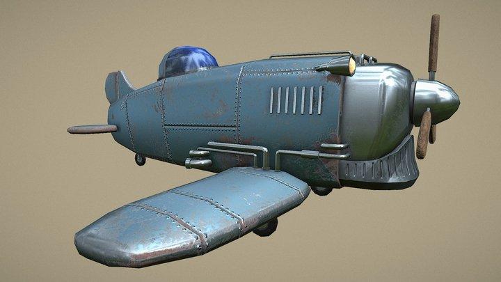 Diesel Aeroplane 3D Model