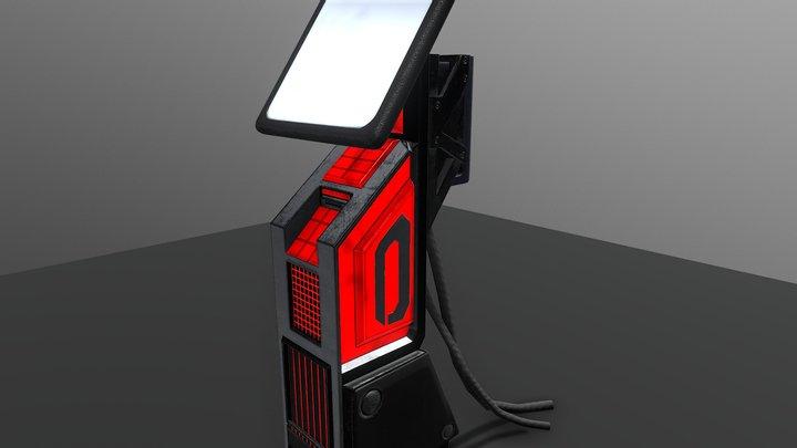 Sci-Fi Kiosk 3D Model
