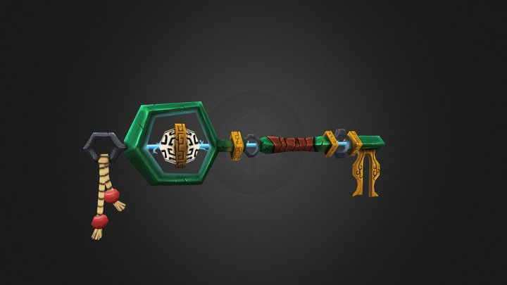 Blizz Weapon Contest Offhand Key 3D Model