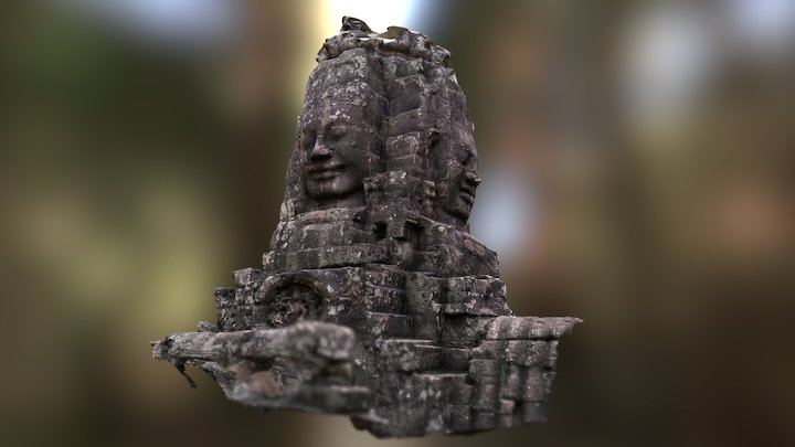 Angkor Tom 3D Model