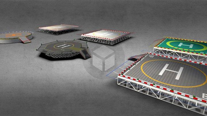 Roof Heliport 3D Model