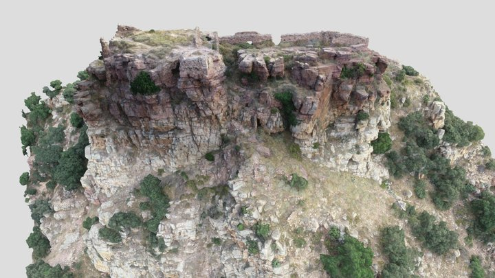 Model 3D Castell de Castro (2/3) Detalle 3D Model