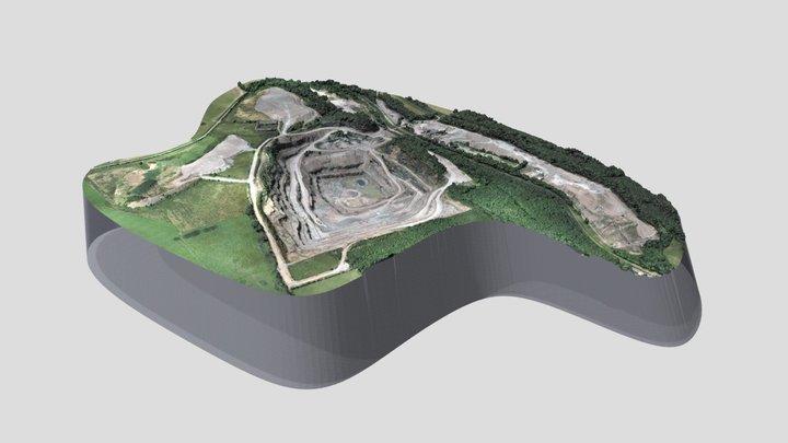 Relevé de carrière par GÉOSMARTIC 3D Model