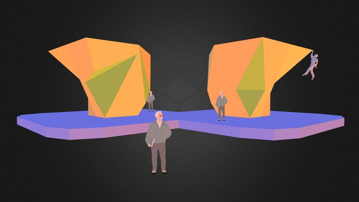 Comp Wall - 4-sided Boulder - 03 3D Model