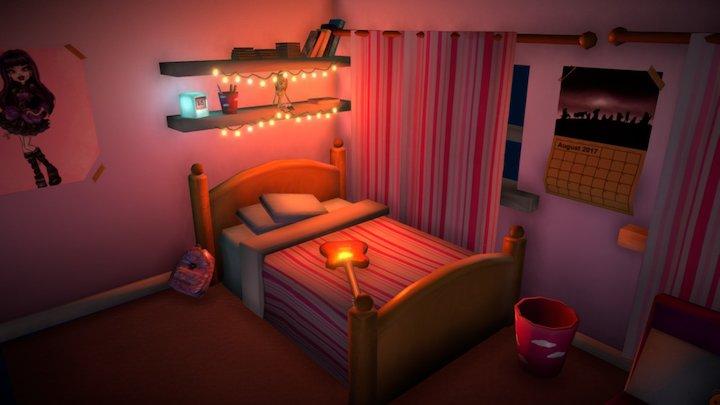 Livy's Room 3D Model