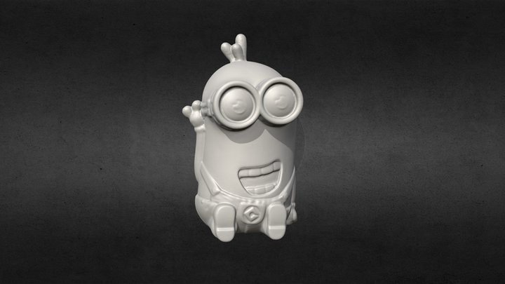 3D Scanned Waving Minion (3D Printable) 3D Model