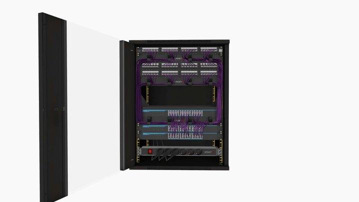 OPENETICS - UniRack 15U - 6A FTP 3D Model