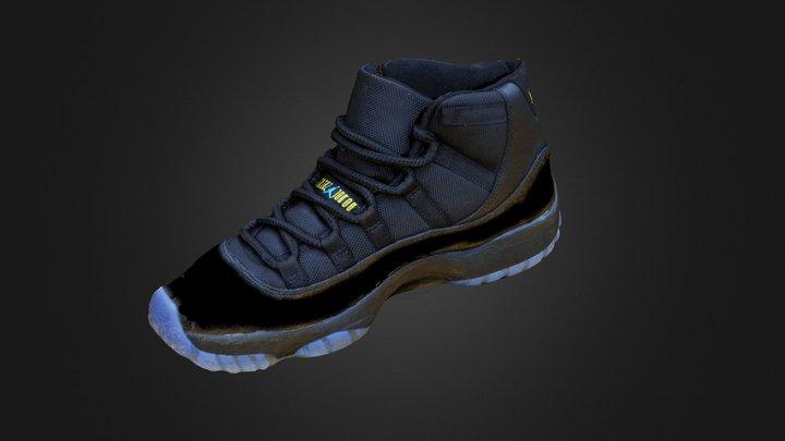 """Nike Air Jordan 11 """"Gamma Blue"""" 3D Model"""
