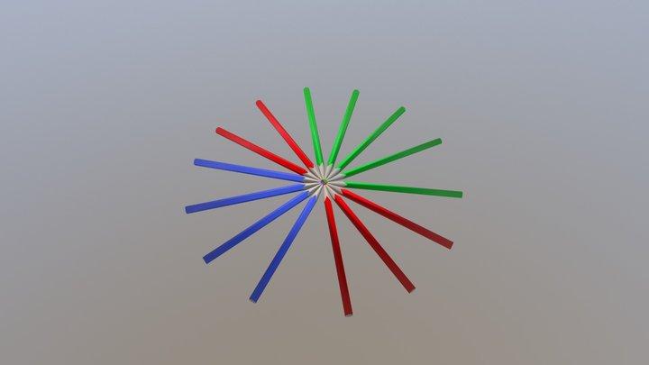 color pencil 3D Model