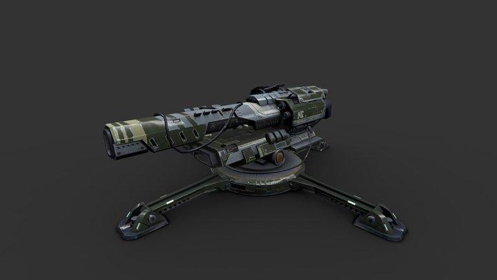 Planetside 2 Prototype weapon 3D Model