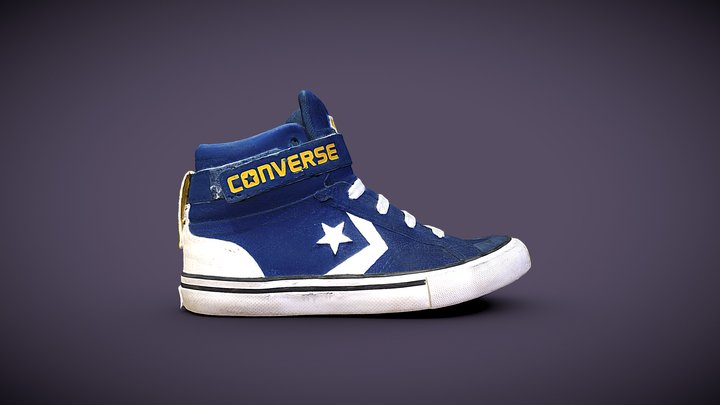 Used blue Converse 3D Model
