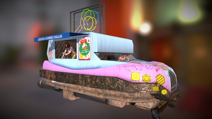 Leeloo Dallas Multi Glace 3D Model