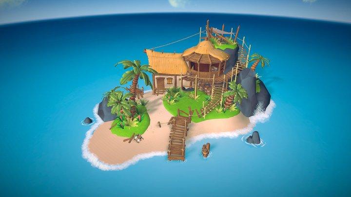 Pirate theme island 3D Model