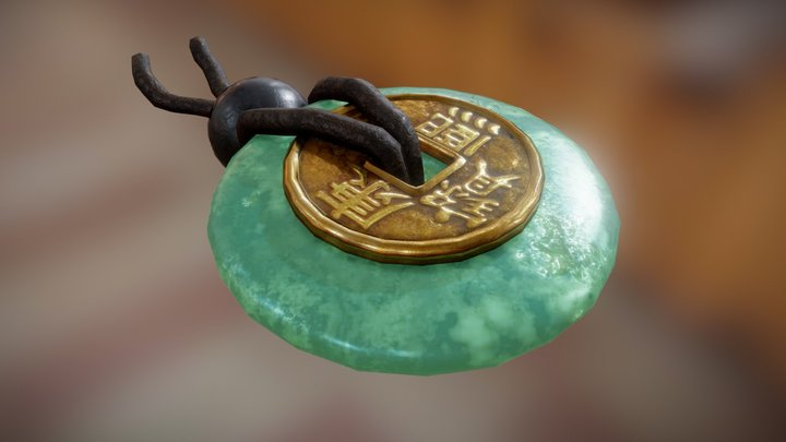 Lucky Chinese Coin 3D Model