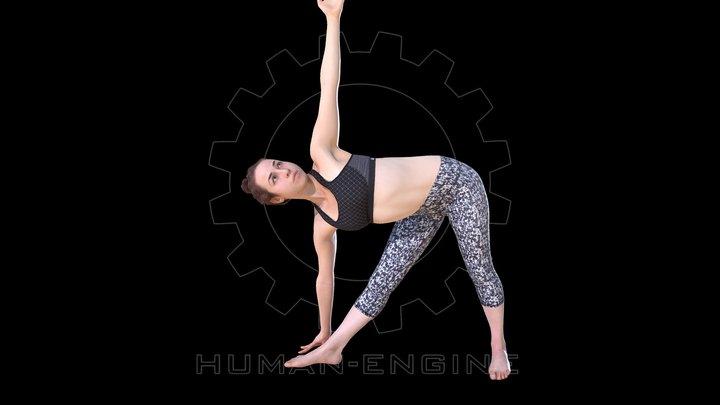 Female Scan - Allison Yoga Animation 3D Model