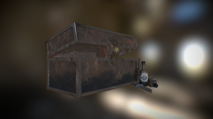 Rusted Object Set 3D Model