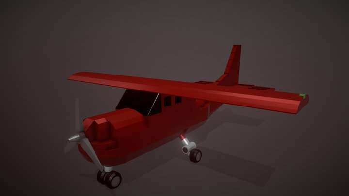 Lego Cessna Skyhawk 172 3D Model