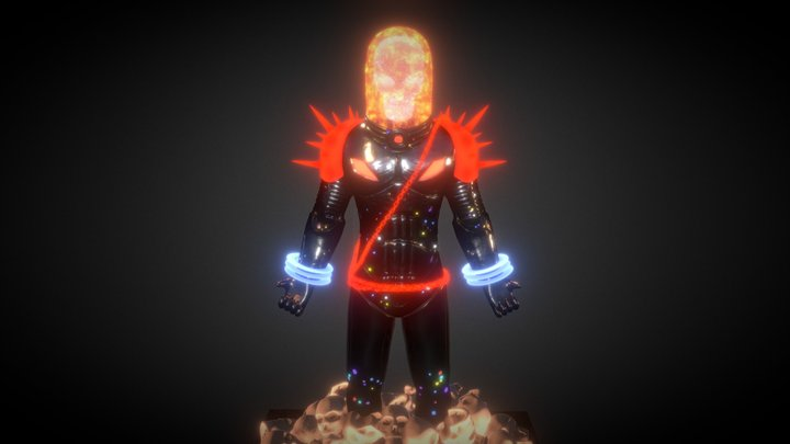 Cosmic Ghost Rider 3D Model