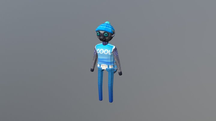 Lemur Blue 3D Model