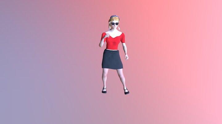 """Sefos bailando """"Marcha Atrás"""" 3D Model"""