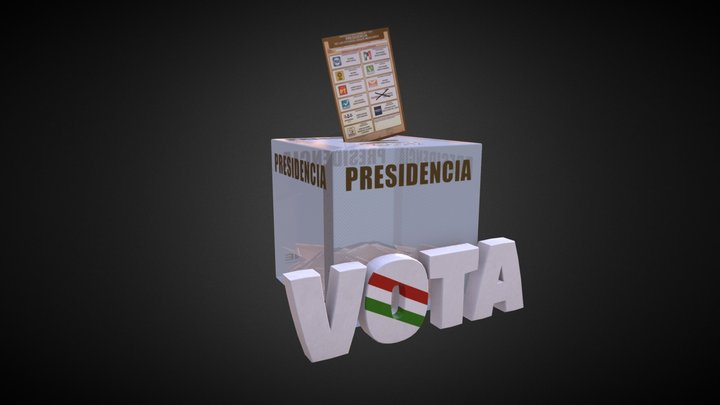 Mexico Voting Box (2018 Presidential Election) 3D Model