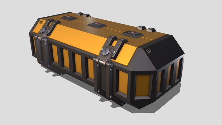 Draft Sci-fi Container 3D Model