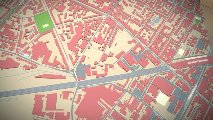 Umgebungskarte Büro 3D Model
