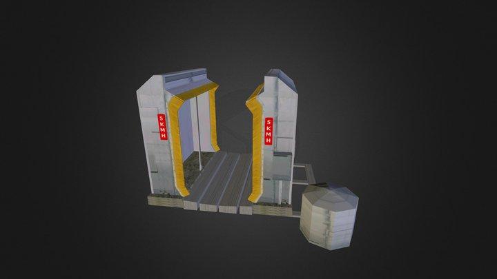 Waschanlage animiert FR 3D Model