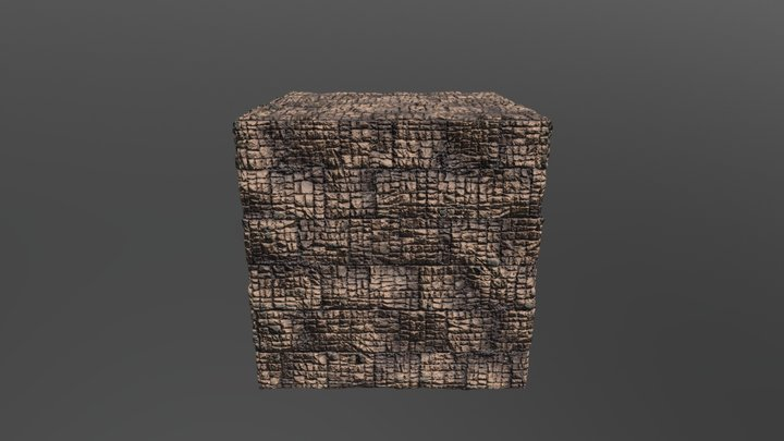 Brown brick tiles 3D Model