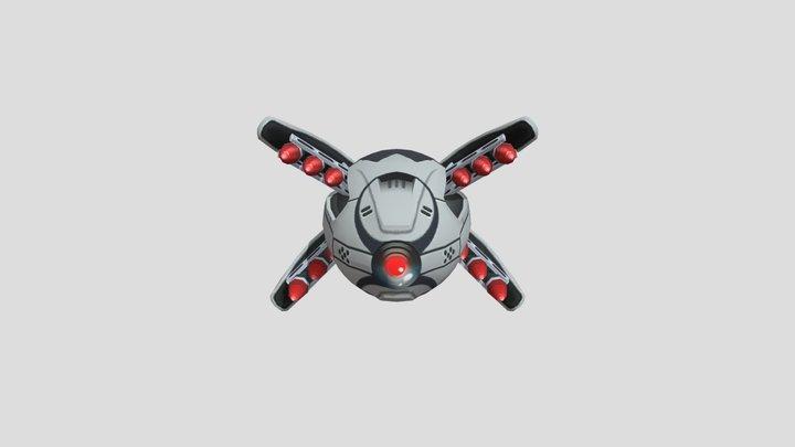 Sonic Movie Drone 3D Model