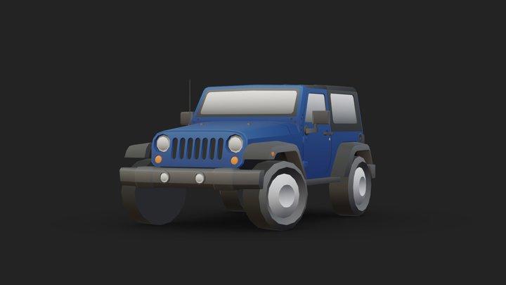 VEHICLE - JEEP WRANGLER 3D Model