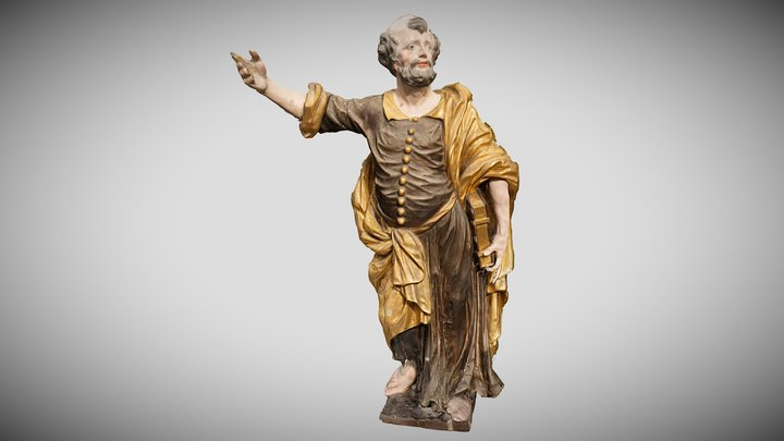 Apostle Peter, Kivi-Vigala church 3D Model