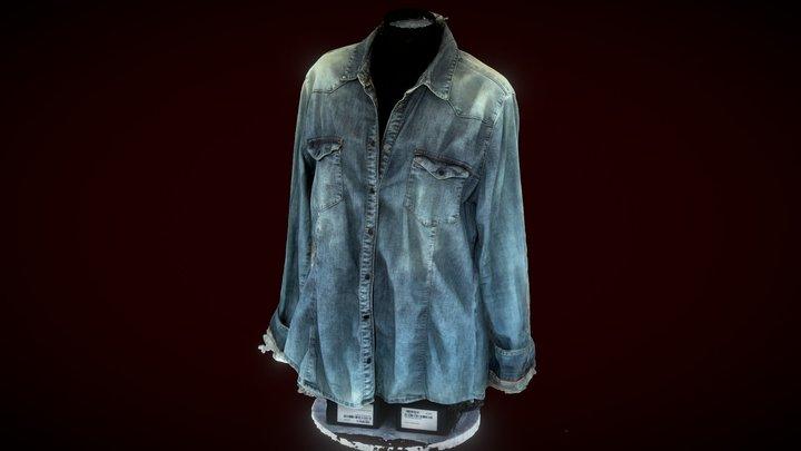 Rosa jeans shirt 3D Model