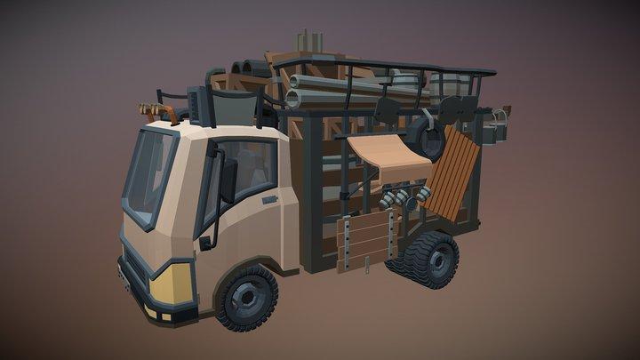 Scavenger Scrap Collecting Truck 3D Model