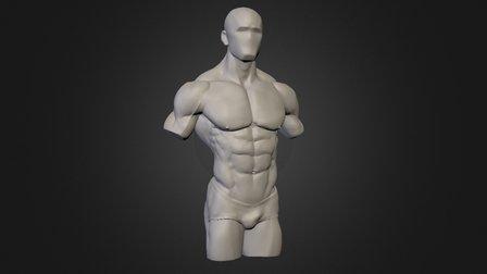Strong Man Torso 3D Model