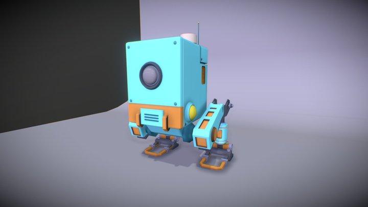 Bluebot - friendly robot 3D Model