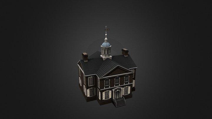 Carpenter's Hall - Philadelphia , PA USA 3D Model