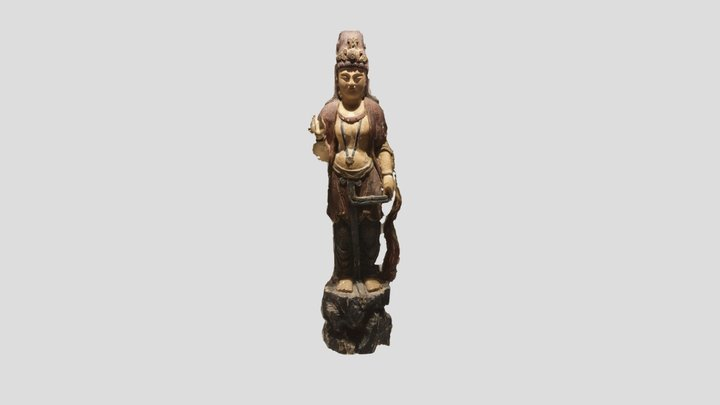 Chinese statue of a Bodhisattva 3D Model