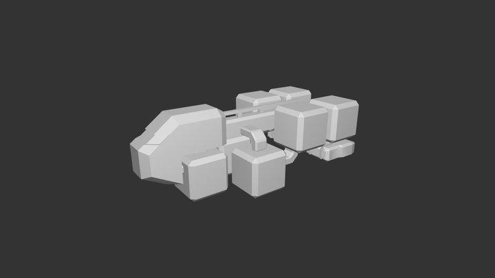 New TS Ship 1 - V2 3D Model