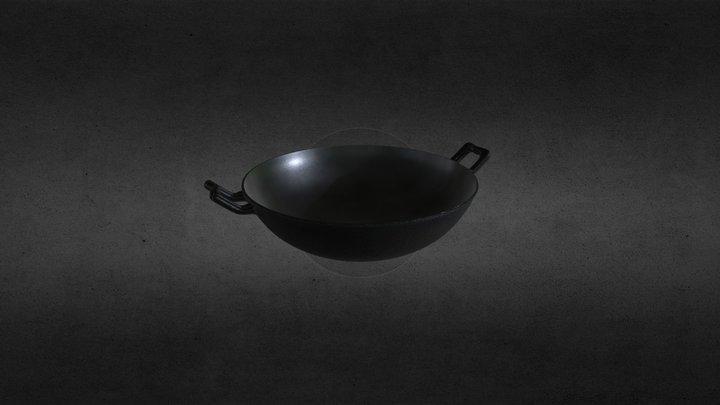 Cast Iron Wok 3D Model